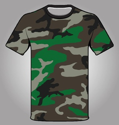 Jungle camo army tshirt vector