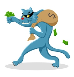 Cat thief vector