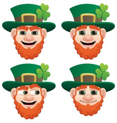 Leprechaun head vector