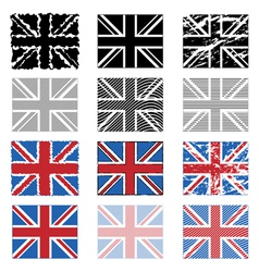 Great britain flags vector