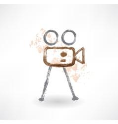 Movie grunge icon vector