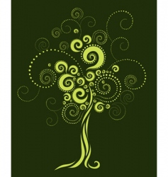 Tree shape from twirls vector
