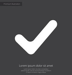 Ok palette premium icon white on dark background vector