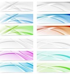 Big modern abstract swoosh wave web headers vector