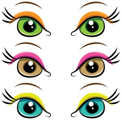 Set of pairs of eyes vector