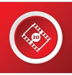 3d film icon on red vector