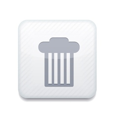 White bin icon eps10 easy to edit vector
