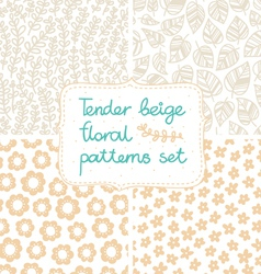 Beige patterns set vector