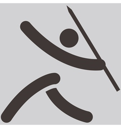 Javelin throw icon vector