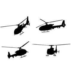 Helicopters vector