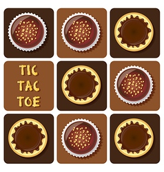 Puddingchocolateball vector