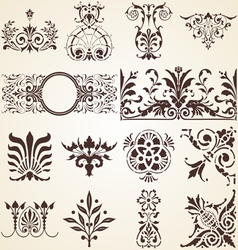 Decorative ornaments design elements corners vector