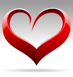 Heart shape sign vector