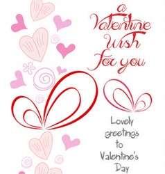 Happy valentine wish for you vector