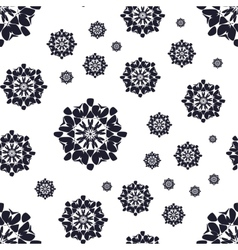 Seamless pattern with abstract flowers repeating vector