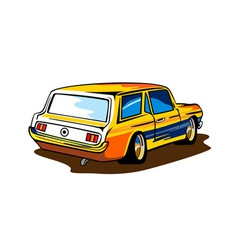 Ford mustang station wagon retro vector