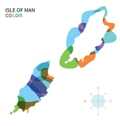 Abstract color map isle of man vector