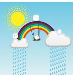 Swing on a rainbow vector