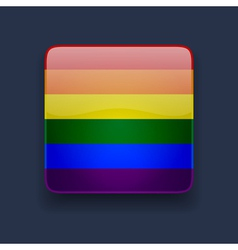 Square icon with rainbow flag vector