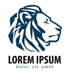 Lion logo design template company or vector
