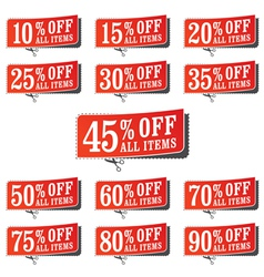 Retail coupons vector