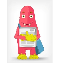 Funny monster postman vector