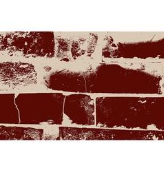 Distressed brick texture vector