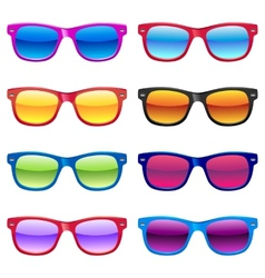 Sun glasses set vector