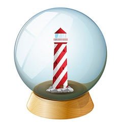 A tower inside the crystal ball vector