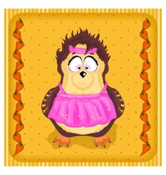 Fun owl in the apron vector