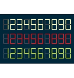 Digital numbers vector