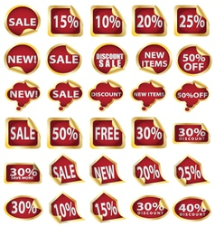 Gold sale n discount sticker vector