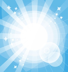 Bright background with rays vector