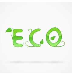 Eco title vector