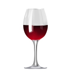 Glass of red wine isolated vector