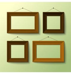 Wooden frame set vector