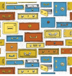 Doodle cartoon color drawers pattern vector