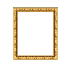 Picture ornate frame isolated on white background vector