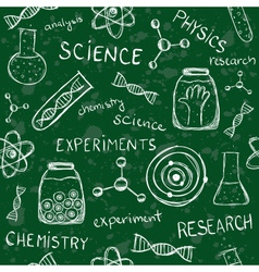 Scientific school board seamless pattern vector