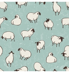 Herd of sheep seamless pattern vector