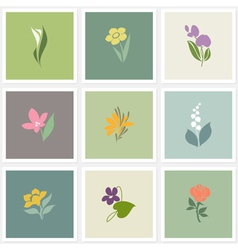 Flower logo templates set vector