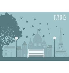 Park in paris vector