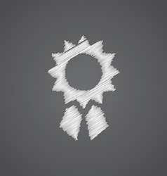 Achievement sketch logo doodle icon vector