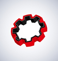 Red 3d gear vector