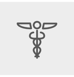 Medical symbol thin line icon vector
