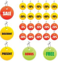 Labels for design sales vector