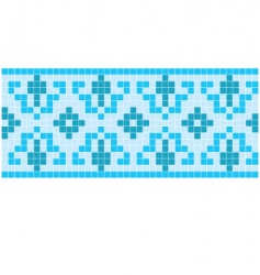 Blue mosaic vector