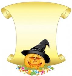 Pumpkin sign vector