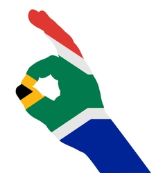 South african finger signal vector