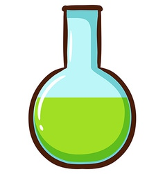 A chemical in a container vector